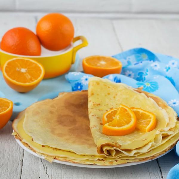 Orange flavour pancake