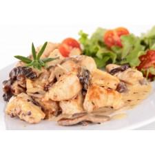 Chicken mushroom high-protein dish