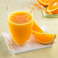 Refreshing Orange Booster drink